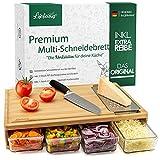 LIFELICIOUS® Premium Multi-Schneidebrett mit 4X...