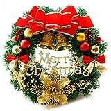 AcserGery Weihnachtskranz mit Kugel, Schleife,...